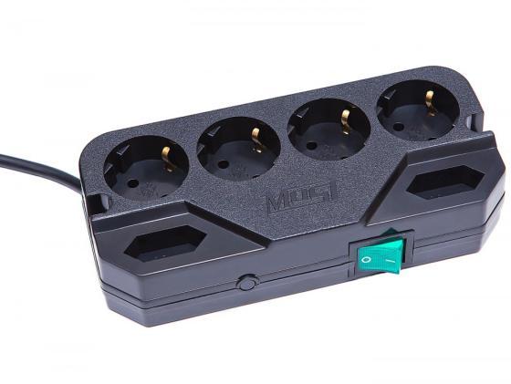 Сетевой фильтр MOST Compact СRG 6 розеток 2 м черный сетевой фильтр most compact сhv белый 6 розеток 2 м