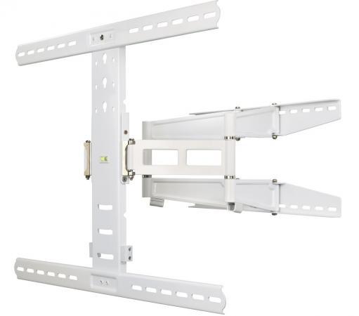 Кронштейн HAMA H-108759 XL белый для ЖК ТВ от 37 до 70 настенный наклон 12° поворот 180° VESA 700x500 max 35 кг кронштейн для тв hama h 84472 white