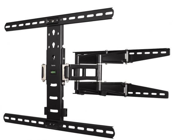 Фото - Кронштейн HAMA H-108757 XL черный для ЖК ТВ до 65 настенный наклон 12° поворот 180° VESA 600x500 max 35 кг кронштейн hama h 108720 xs черный для жк тв до 26 настенный vesa 100x100 max 25 кг
