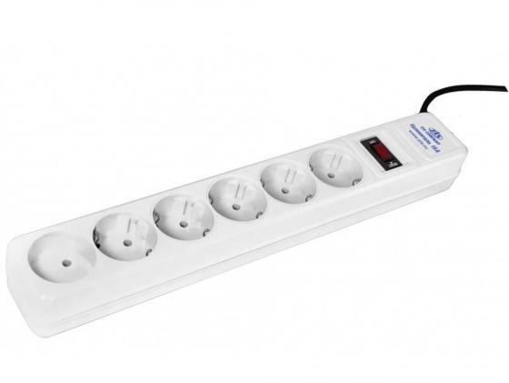 Сетевой фильтр ZIS Pilot 15A 6 розеток 5 м белый цены онлайн