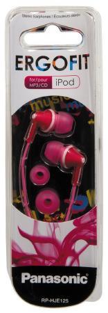 Наушники Panasonic RP-HJE125E-P розовый наушники затычки panasonic rp hje125e v фиолетовый