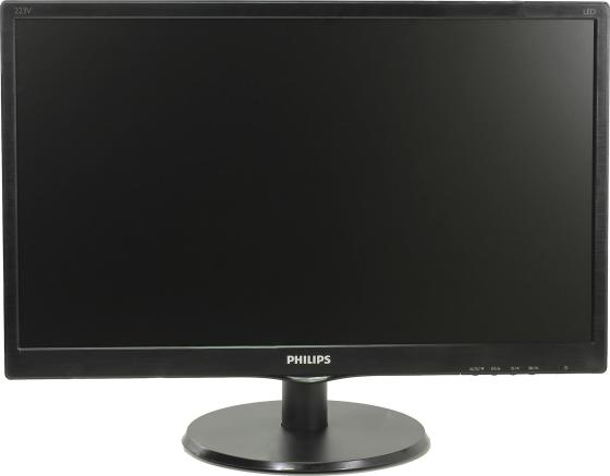 Монитор 22 Philips 223V5LSB/1062 черный TN 1920x1080 250 cd/m^2 5 ms VGA монитор philips 223v5lsb 00 01