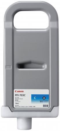 Картридж Canon PFI-703 C для iPF815 825 голубой набор картриджей canon pfi 703 c для ipf815 825 голубой 3шт 2964b003