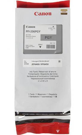 Картридж Canon PFI-206 PGY для iPF6400 6450 фото серый