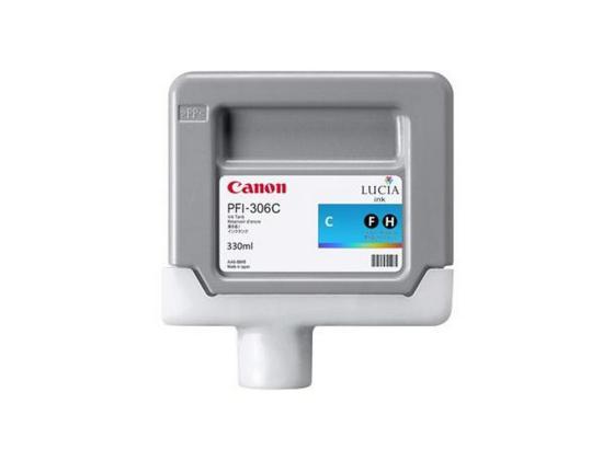 Картридж Canon PFI-306 C для iPF8300S 8400 9400S 9400 голубой картридж canon pfi 306 pm для ipf8300s 8400 9400s 9400 фото пурпурный
