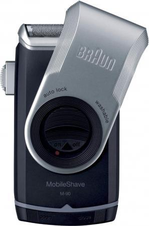Бритва Braun MobileShave M90 серебристый чёрный бритва braun mobileshave m90 серебристый чёрный