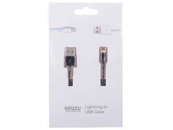 Кабель Lightning 1м GINZZU GC-501B круглый кабель lightning 1м wiiix круглый cb120 u8 10b