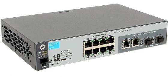 Коммутатор HP 2530-8G управляемый 8 портов 10/100/1000Mbps 2xSFP J9777A