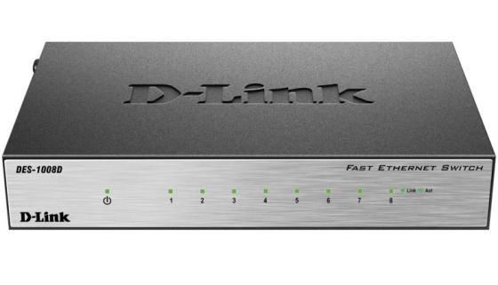 цена на Коммутатор D-LINK DES-1008D/L2A/L2B неуправляемый 8 портов 10/100Mbps