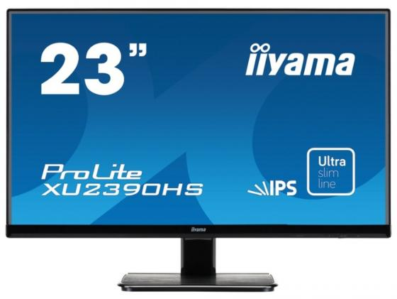 Монитор 23 iiYama Pro Lite XU2390HS-B1 черный AH-IPS 1920x1080 250 cd/m^2 5 ms DVI HDMI VGA Аудио монитор 27 lg 27mp68hm p черный ah ips 1920x1080 250 cd m^2 5 ms hdmi vga аудио