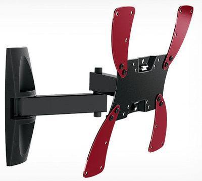 Кронштейн Holder LCDS-5046 черный для ЖК ТВ 15-40 настенный от стены 510мм наклон +15°/25° поворот 350° до 30кг