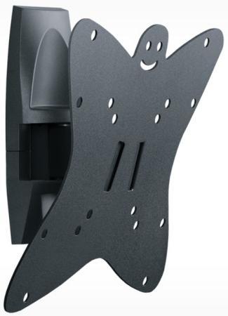Кронштейн Holder LCDS-5036 серый для ЖК ТВ 19-37 настенный от стены 91мм наклон +6°/-15° поворот 135° до 30кг holder lcds 5065 black gloss кронштейн для тв