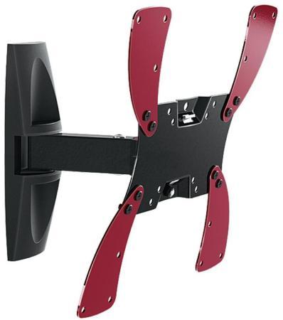 Фото - Кронштейн Holder LCDS-5020 черный для ЖК ТВ 10-40 настенный от стены 265мм наклон +15° поворот 100° до 30кг кронштейн для телевизора holder lcds 5020 22 42 настенный поворот и наклон