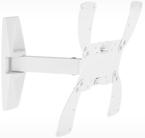 Кронштейн Holder LCDS-5020 белый для ЖК ТВ 15-40 настенный от стены 265мм наклон +15° поворот 100° до 30кг