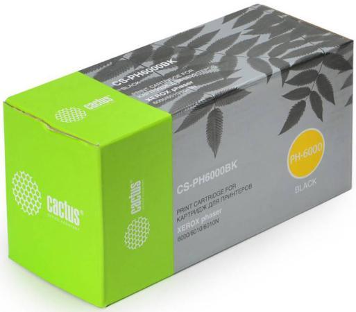 Картридж Cactus CS-PH6000BK для Xerox 6000 6010 черный 2000стр цена