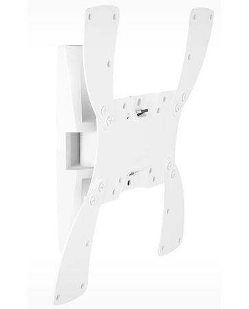 Кронштейн Holder LCDS-5019 белый для ЖК ТВ 10-37 настенный от стены 105мм наклон +15° поворот 40° до 30кг