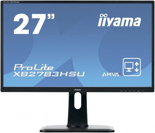 Монитор 27 iiYama XB2783HSU-B1 черный A-MVA 1920x1080 300 cd/m^2 4 ms VGA DVI HDMI Аудио USB монитор 27 benq ew2775zh черный a mva 1920x1080 300 cd m^2 4 ms g t g hdmi vga аудио