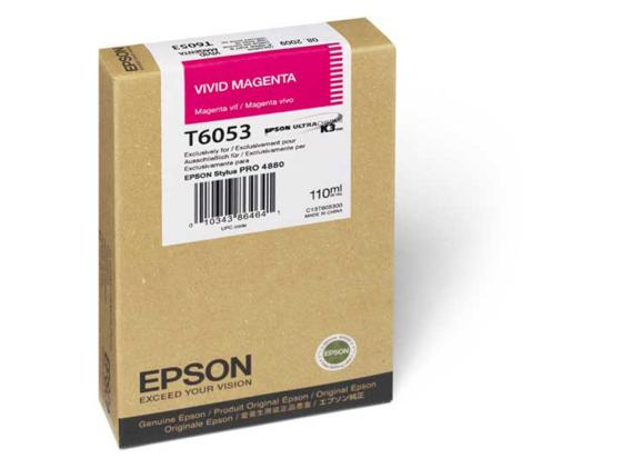 Картридж Epson C13T605300 для Epson Stylus Pro 4880 vivid magenta пурпурный vivid hair 100