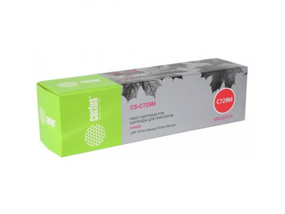 Картридж Cactus CS-C729M для Canon i-SENSYS LBP7010C LBP7018C пурпурный 1000стр материнская плата asus x99 ws ipmi socket 2011 3 x99 8xddr4 5xpci e 16x 8xsataiii atx retail