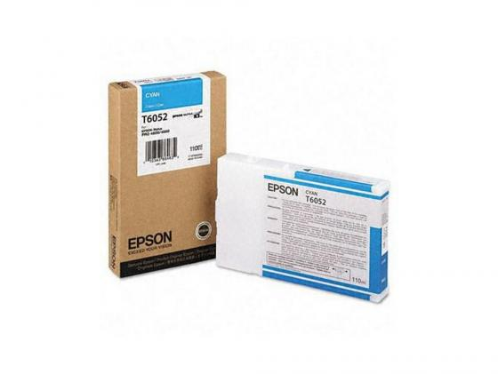 Картридж Epson C13T605200 для Epson Stylus Pro 4880 голубой 2pcs maintenance tank for epson stylus pro 4000 4400 4450 4800 4880 printer waste ink tank