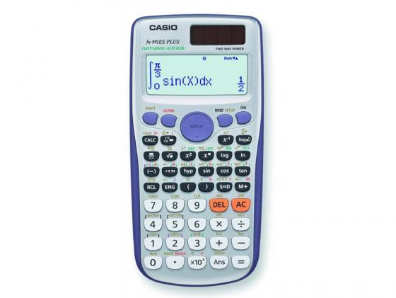 Калькулятор Casio FX-991ESPLUS двойное питание 10+2 разряда научный 417 функций серый калькулятор casio fx 570esplus матричный 2 строчный