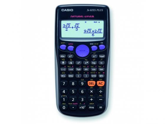 Калькулятор Casio FX-82ESPLUS питание от батареи 10+2 разряда научный 252 функций черный калькулятор научный citizen srp 145n 8 2 разряда черный 86 функций питание от батареи арт srp145n