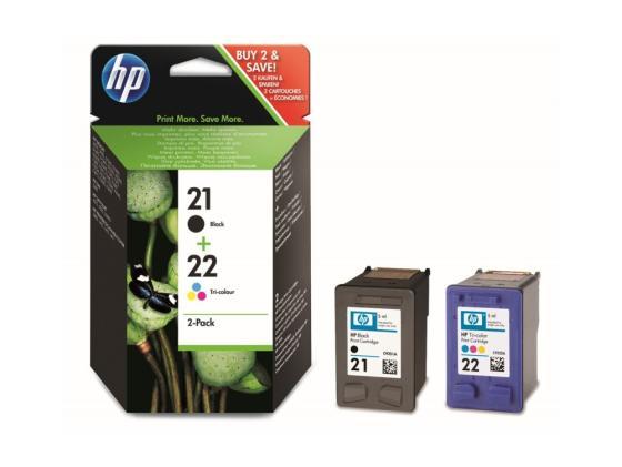 цена на Картридж HP SD367AE 21+22 для HP DJ 3900 D1400 D1500 черный цветной