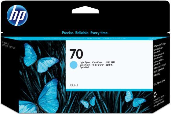 Картридж HP C9390A №70 для HP DJ Z2100 Z3100 светло-голубой струйный картридж hp c9390a 70 светло голубой для dj z2100 z3100