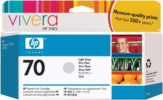 Картридж HP C9451A №70 для HP DJ Z2100 Z3100 светло-серый струйный картридж hp c9390a 70 светло голубой для dj z2100 z3100