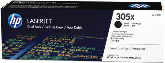 Картридж HP CE410XD для CLJ M451 черный 2x4000стр тонер картридж hp ce410xd двойная упаковка