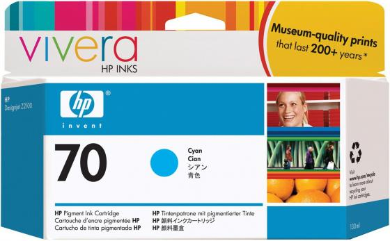 Картридж HP C9452A №70 для HP DJ Z2100 Z3100 голубой картридж hp pigment ink cartridge 70 yellow z2100 3100 3200 c9454a