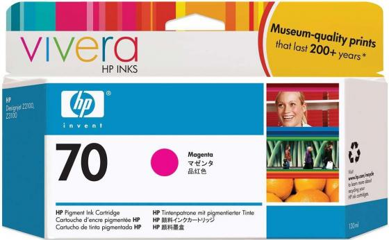 Картридж HP C9453A №70 для HP DJ Z2100 Z3100 пурпурный картридж hp pigment ink cartridge 70 magenta z2100 3100 c9453a