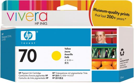 Картридж HP C9454A №70 для HP DJ Z2100 Z3100 желтый картридж hp pigment ink cartridge 70 yellow z2100 3100 3200 c9454a