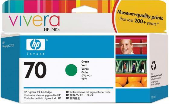 Картридж HP C9457A №70 для HP DJ Z2100 Z3100 зеленый картридж hp c9449a 70 для hp dj z2100 z3100 черный
