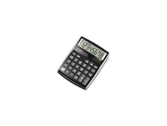Калькулятор Citizen CDC-80BK двойное питание 8 разряда настольный налог наценка черный