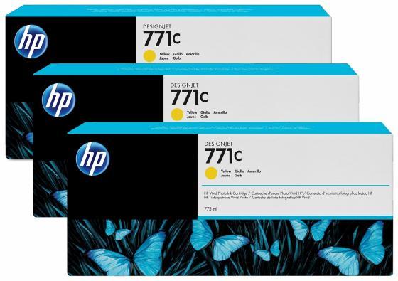 Картридж HP B6Y34A №711С для HP Designjet Z6200 желтый 3шт тонер картридж hp b6y34a 3 pack yellow
