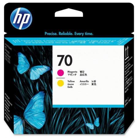 Печатающая головка HP C9406A 70 для Designjet Z2100/Z3100 Photosmart Pro B9100 пурпурный+желтый картридж hp c9410a для designjet z2100 z3100 ps pro b9100 глянцевый серый 16000sh