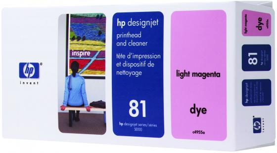 Печатающая головка HP C4955A для DesignJet 5XXX светло-пурпурный free shipping q5669 60664 for hp designjet t610 t1100 z2100 z3100 z3200 vacuum fan aerosol fan assembly original used