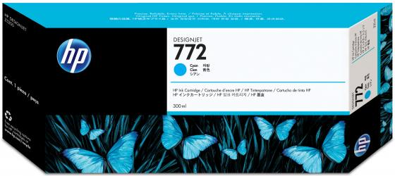 Картридж HP CN636A №772 для HP DJ Z5200 голубой картридж hp pigment ink cartridge 70 black z2100 3100 3200 c9449a