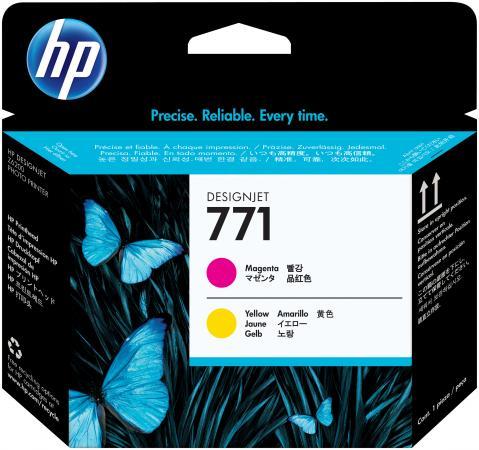 Картридж HP CE018A для DesignJet Z6200 пурпурный/желтый печатающая головка hp 771 ce018a designjet z6200 ce018a