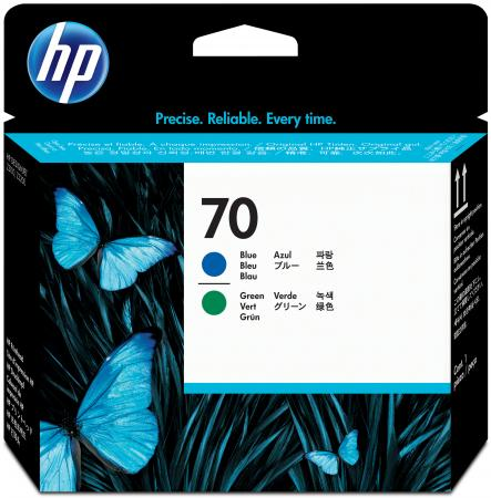Картридж HP C9408A для DesignJet Z2100/Z3100 PS Pro B9100 голубой/зеленый market leader advanced business english practise file аудиокурс cd