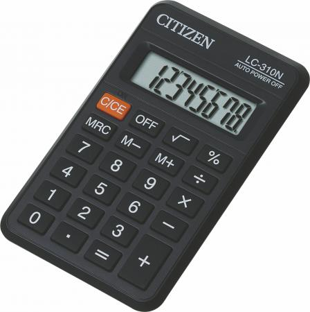 Калькулятор карманный Citizen LC-310N 8-разрядный citizen ca4250 03e