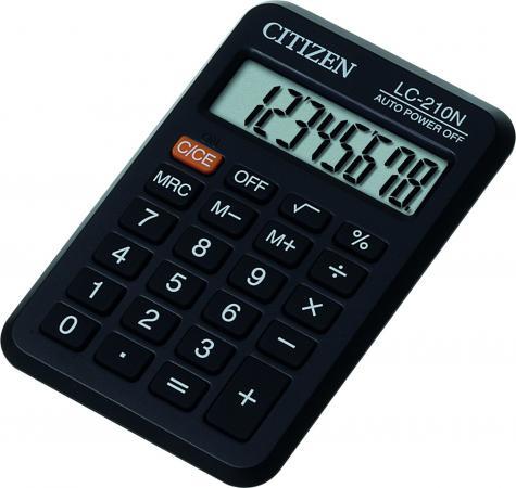Калькулятор карманный Citizen LC-210N 8-разрядный калькулятор citizen lc 310n карманный 8рр 7х11х2см черный