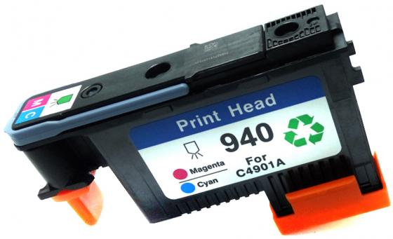 Печатающая головка HP C4901A №940 для Officejet Pro 8000/8500/8500a голубой/пурпурный картридж hi black c4907ae для hp officejet pro 8000 8500 голубой 1400стр