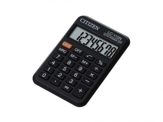 Калькулятор Citizen LC-110N 8 разрядов карманный черный gorgeous 60cm length golden thick braided wheat chain necklace for men