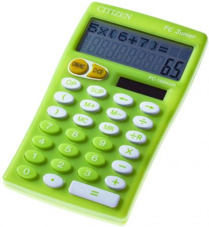 Калькулятор настольный Citizen FC-100NGR 10-разрядный салатовый калькулятор настольный citizen businessline 10 разрядный черный