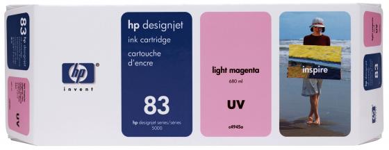 Картридж HP C4945A №83 для HP DesignJet 5000 5500 светло-пурпурный струйный картридж hp c4942a 83 пурпурный для hp designjet 5000 5500