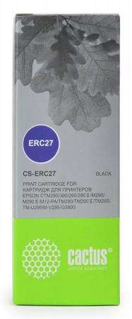 Картридж Cactus CS-ERC27 для Epson ERC 27 черынй vintage style colored wavy striped pattern square shape pillowcase