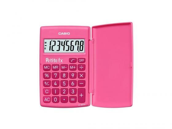 Калькулятор карманный CASIO LC-401LV-PK 8-разрядный розовый калькулятор casio hl 820lv 8 разрядный черный