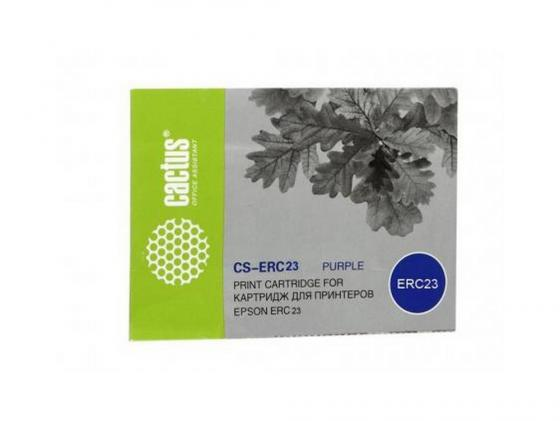 Картридж Cactus CS-ERC23 для Epson ERC 23 фиолетовый картридж cactus cs erc31 для epson erc 31 tm 930 tm 950 фиолетовый 3000000 знаков